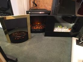 THREE BRAND NEW ELECTRIC FIRES