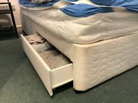 King size divan base with two drawers - collect asap Surbiton