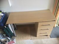 MFI desk and drawers