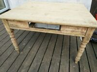 Solid Wooden Rustic square Table