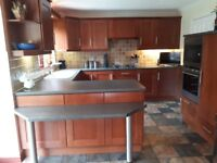 Solid cherry wood kitchen