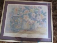 Mary Lund framed print. 29x24 inch approx