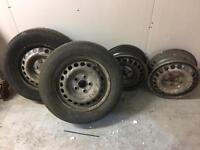 4 x T5 transporter wheels . 1 good tyre