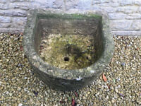 Cotswold stone trough, D shaped