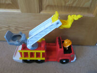 Fisher-Price World of Little People Michael And His Rescue Fire engine