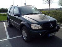 MERCEDES ML 270 CDI FABULOUS RACING GREEN AMG WHEELS WITH NEW TYRES