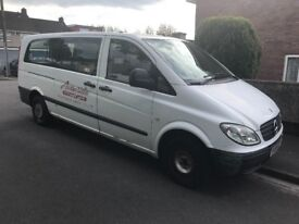 Mercedes Vito Long 9 Seater Window Van