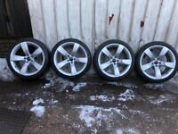 """Genuine Audi A4 A5 b8 S4 S5 19"""" hollow spoke rotor 5 arm bbs alloy wheels with tyres"""