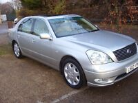LEXUS LS430 AUTOMATIC SILVER 2002 LOW MILES 3 OWNERS