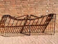 Iron double gates good heavy gates