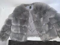 Faux fur jacket primark size S and Zara biker jackets