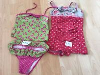 Swimming costumes age 6-7 years