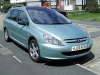 Peugeot 307SW Estate Automatic for Spares or Repair. M.O.T. Due 10th June. 126,000 miles.