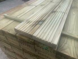 Grade A decking boards pressure treated green