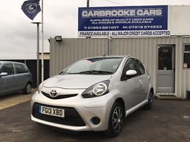2013 13 TOYOTA AYGO 998cc ICE - 46,000 MILES - NO ROAD TAX !!! - 12 MONTHS MOT - SERVICED - WARRANTY