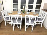 Ducal pine table and 6 chairs free delivery Ldn Shabby Chic