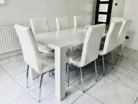 Faux Leather Off White Dining Chairs £47 per chair (8 available)