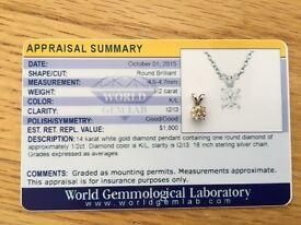 14 karat white gold 1/2ct diamond for sale!