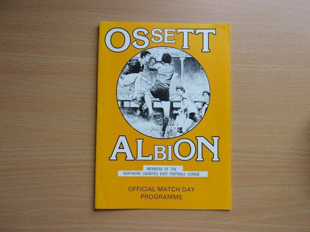 OSSETT ALBION VS. LEEDS UNITED. 1987 PRE-SEASON FRIENDLY FOOTBALL PROGRAMME. VERY GOOD CONDITION.