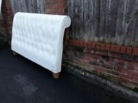 Super King Size White Leather Bed