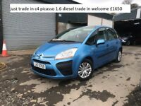 07 citreon c4 picasso 1.6 diesel , trade in welcome