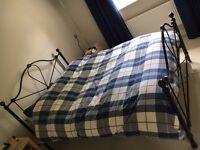Black double 4ft 6 ins metal bed frame