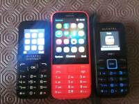 3x mobile phones Nokia Alcatel