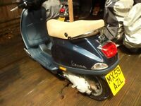 piaggio vespa LX50cc midnight blue