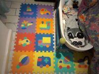 33cm Soft Foam Puzzle Play Mat Kids Transport Vehicles Baby Floor Jigsaw Pop Eva Pcs