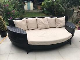 Rattan outdoor sofa