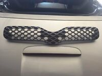 TOYOTA YARIS GRILL FRONT BONNET GRILL T-SPIRIT / T3 MODEL IN GREY