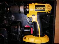 *refurbished* Dewalt DC725 18v Cordless Hammer Drill / Driver + Case, Charger and 2 batteries