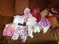 Bundle of Baby Girls Clothes 3 - 6 months