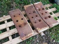 3 x enfo Fordson major front weights