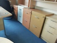 ***2 DRAWER WOODEN FILING CABINETS - FROM £90.00+VAT***
