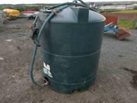 Titan 1300 litre diesel storage tank farm tractor digger