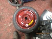 Honda Civic Brand New Space Saver Wheel 125/70 15 4 Stud 2003 Vehicle.