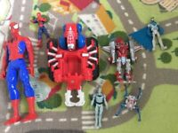 Spider-Man and Batman bundle figures, vehicle etc
