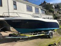Quicksilver 630 power speed boat with 150 Mercury Outboard and trailer