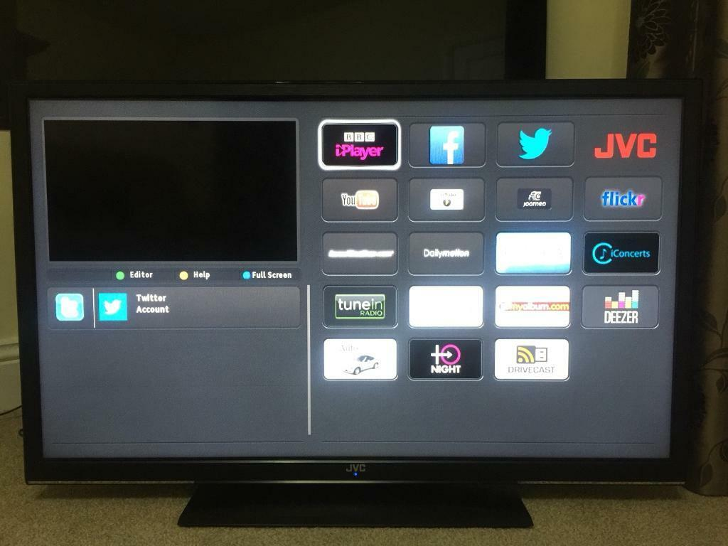 "40"" JVC SMART LED TV USB BUILT IN FREEVIEW HD FULL HD CAN DELIVER"