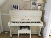 Shabby chic cream piano