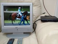 1 15inch tv and 1 17 inch tv/ monitor with freeview box and wall bracket plus all cables