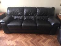 3 seater sofa - Dark brown leather
