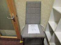 set of 4 Prado gray brown chairs