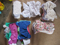 28 Re-usable NAPPIES + 11 inserts/boosters