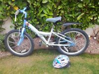 Girls bicycle for sale with helmet