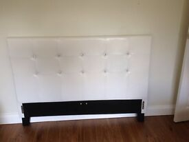 faux leather and diamanté double bed with mattress ***as new condition ***