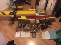 Remote Petrol Planes. BIG bundle ++ Spares