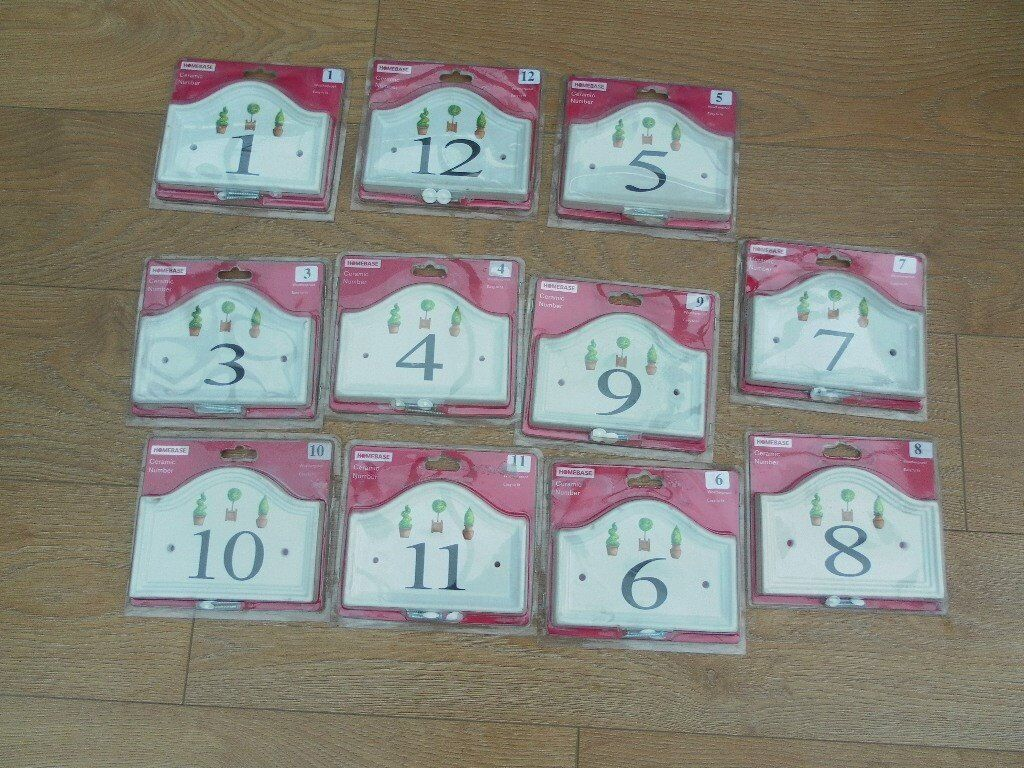 CERAMIC HOUSE NUMBERS EX HOMEBASE In Blackpool Lancashire Gumtree
