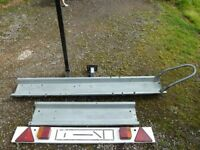 Watling Scooter towbar rack with lighting board